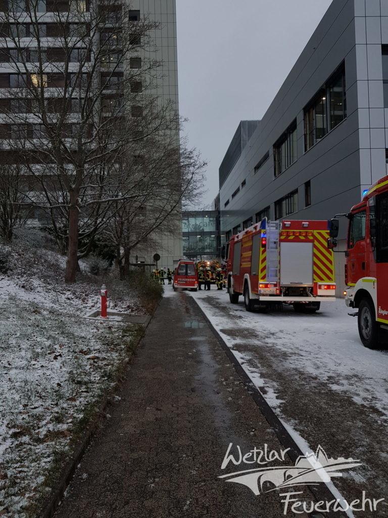 Zimmerbrand im Wetzlarer Klinikum