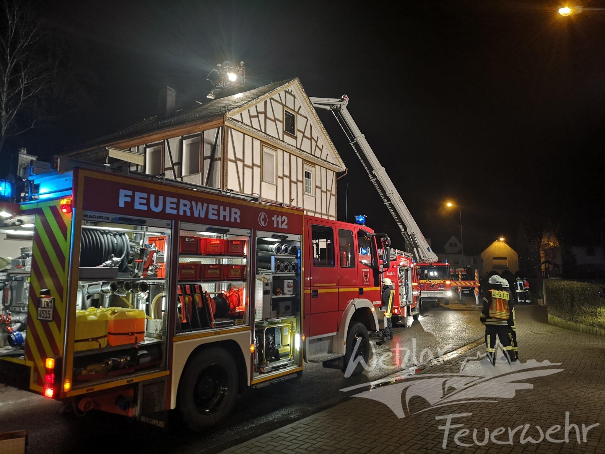 Defekter Schornstein löst Brand aus