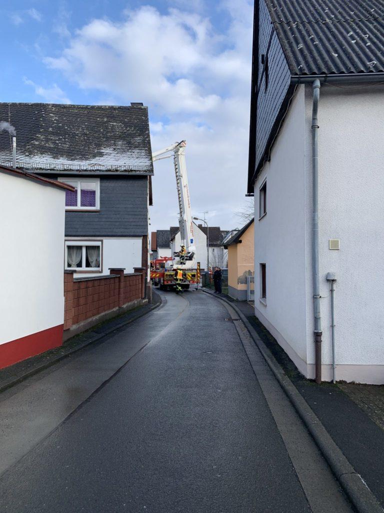 Beginnender Kaminbrand in Steindorf