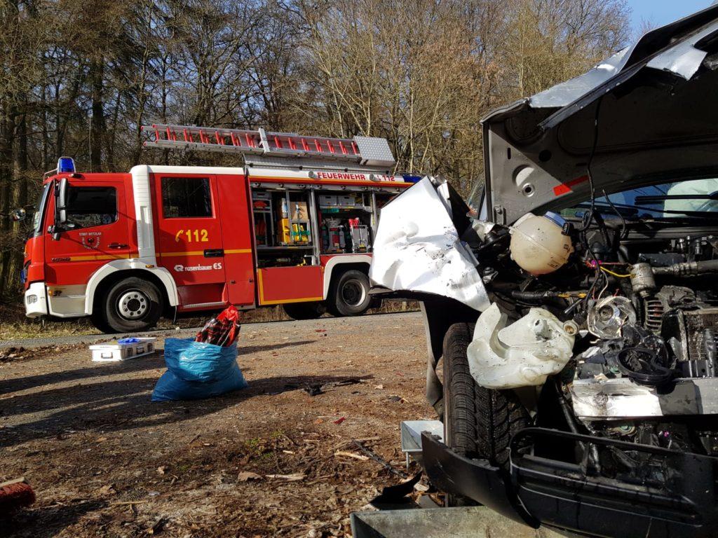 Verkehrsunfall zwischen Wetzlar und Weidenhausen