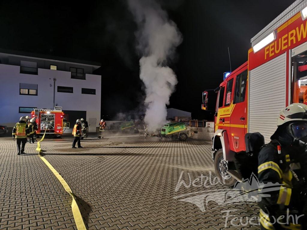 Estrichpumpe brennt in Naunheim