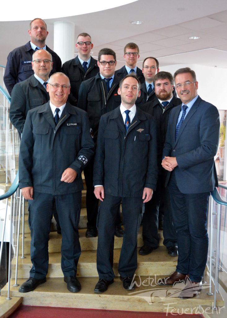 Führungskräfte der Feuerwehr Wetzlar werden offiziell ernannt