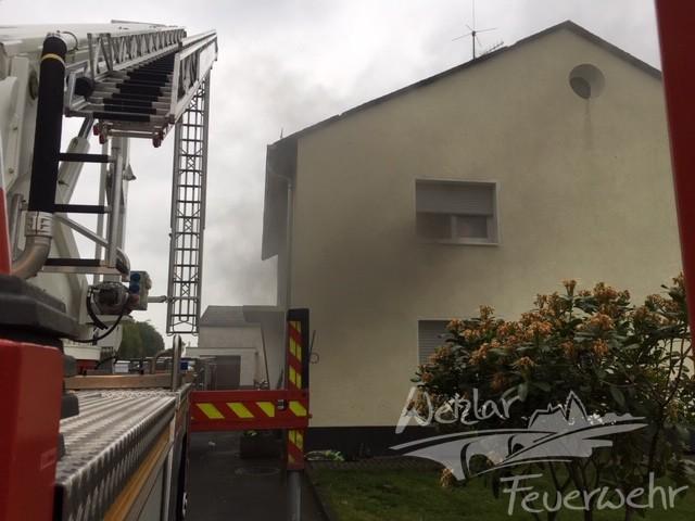 Zimmerbrand in der Wetzlarer Innenstadt