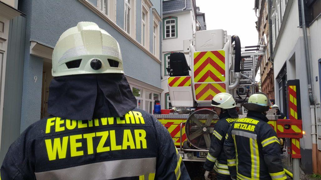 Feuer in Wetzlarer Altstadt gelöscht