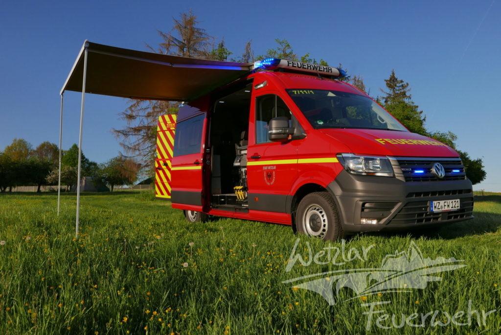 Die Feuerwehr der Stadt Wetzlar stellt einen neuen Einsatzleitwagen in Dienst
