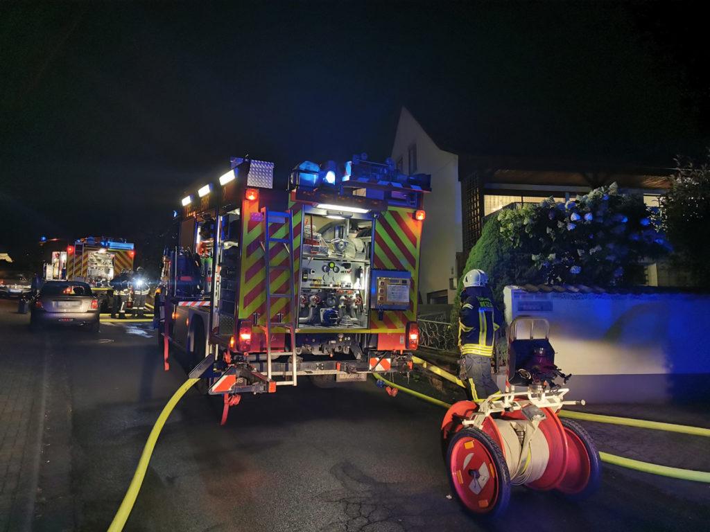 Kellerwohnung brennt in Hermannstein aus