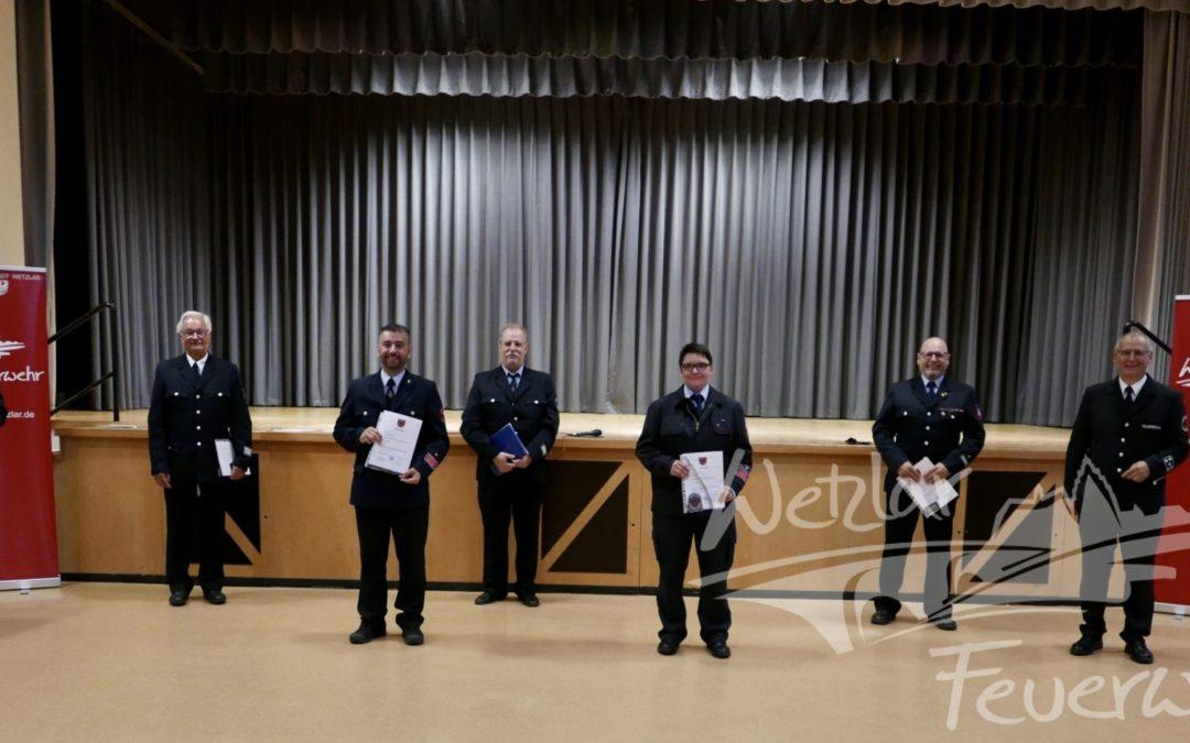 Verabschiedungen und Beförderungen bei der Wetzlarer Feuerwehr