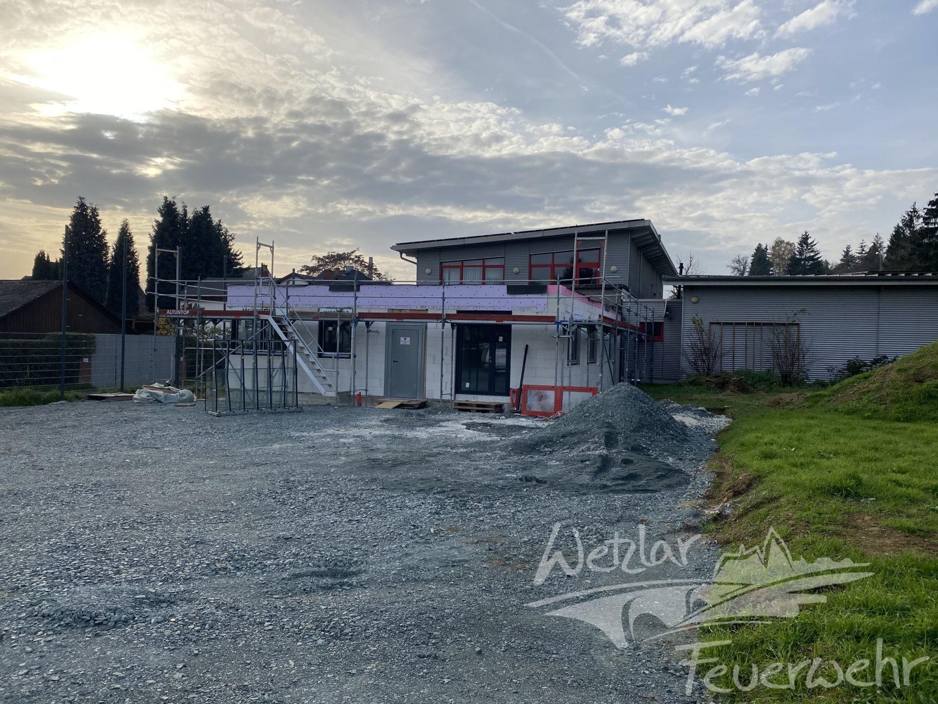 Der Anbau an das bestehende Gerätehaus in Niedergirmes