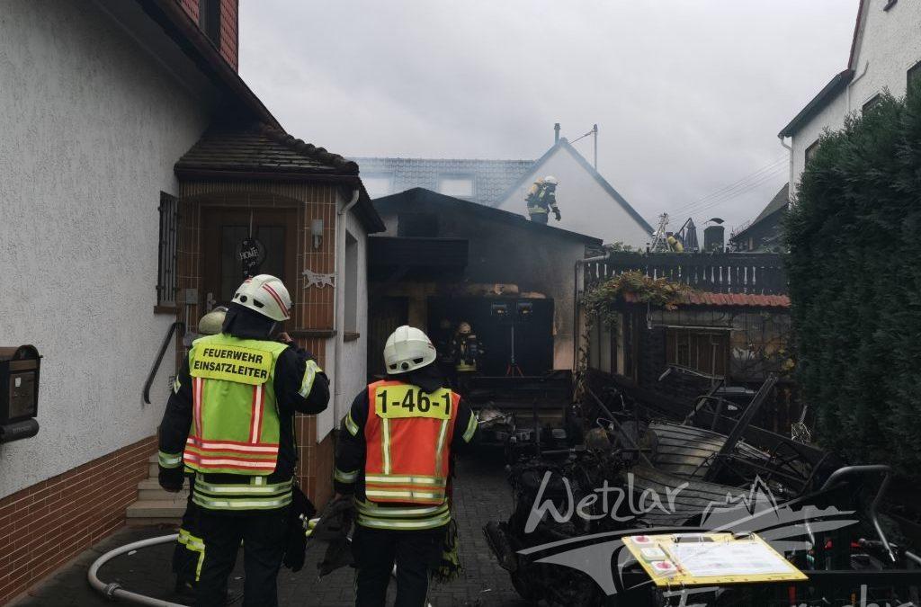 Garagenbrand in Hermannstein