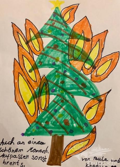 Kinder malen für Senioren in Hermannstein
