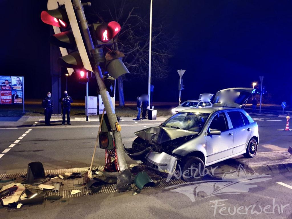 Verkehrsunfall auf der Frankfurter Straße