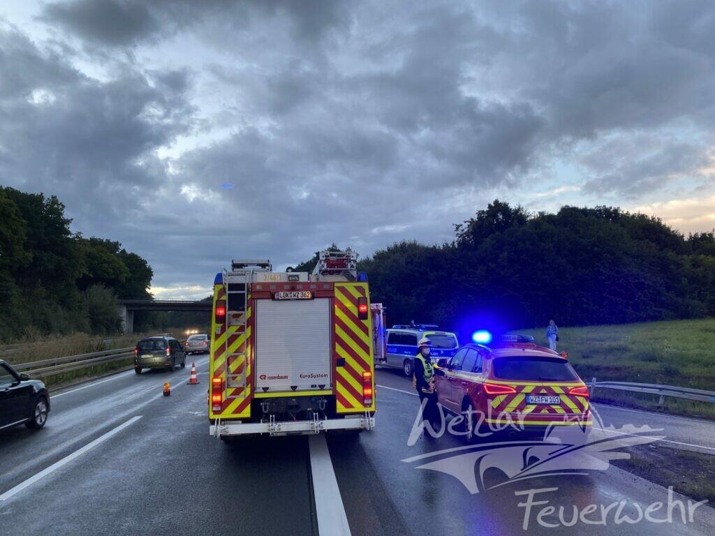 Verkehrsunfall auf der A45