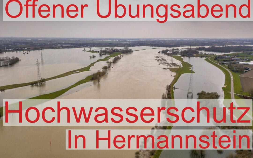 """Offener Übungsabend """"Hochwasserschutz"""" in Hermannstein"""